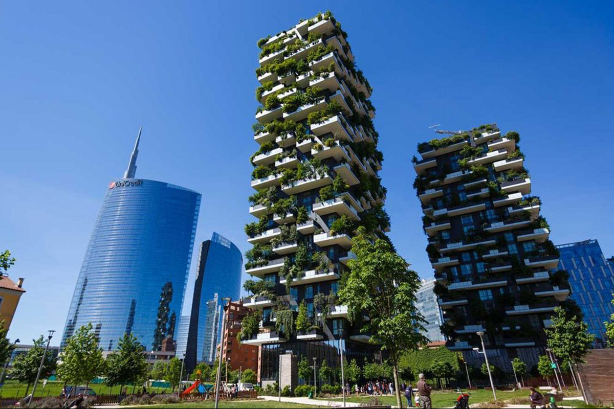 Foto Bosco Verticale Milano vertical forest in milano with eterno ivica