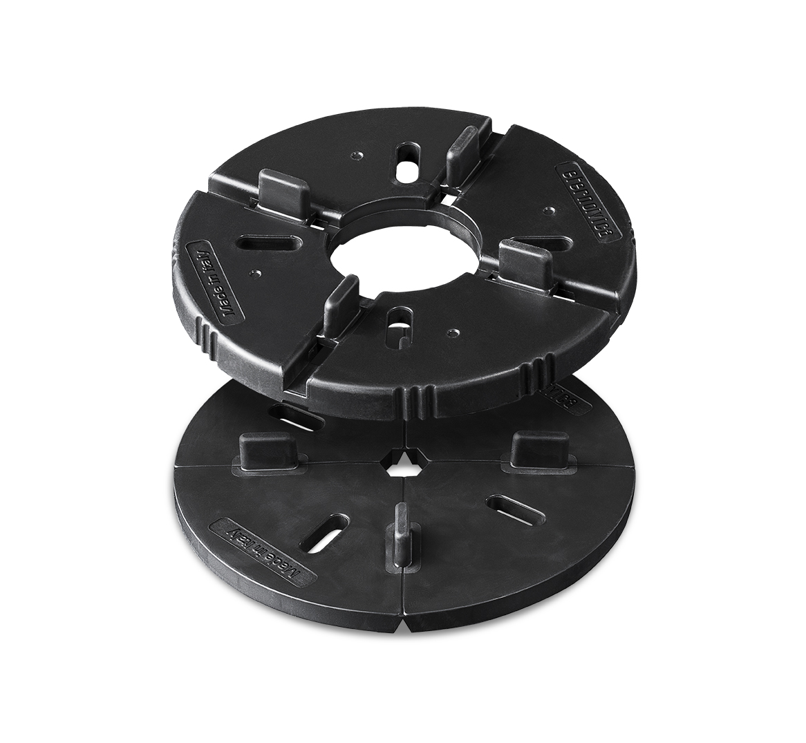 Rubber support for raised outdoor floors EH RUBBER 10+6